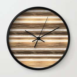 Abstract Fall Ocean Sunset Wall Clock