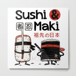 Sushi & Maki Metal Print