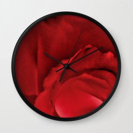 Red Rose Abstract Wall Clock
