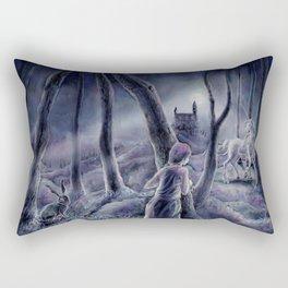 Little White Horse Rectangular Pillow