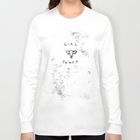 girl power Long Sleeve T-shirts featuring Girl Power  by Georgiecarr
