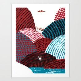 Russian Folk Tales - Tzar of the seas II Art Print