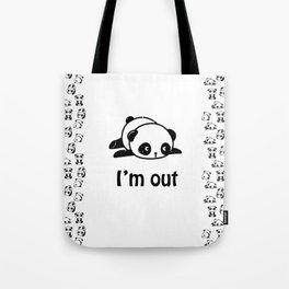 I'm out – Cute panda design Tote Bag