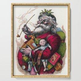 Victorian Santa Claus - Thomas Nast Serving Tray