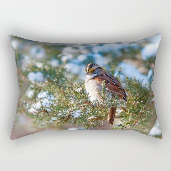 Sunlight Sparrow Rectangular Pillow