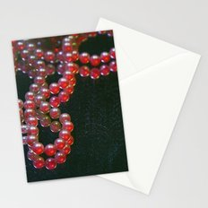 Colorful Pearls on a dirty mirror. Stationery Cards