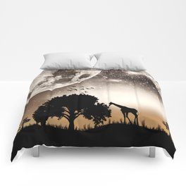 Nature silhouettes Comforters