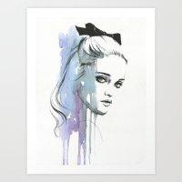 sky ferreira Art Prints featuring Sky Ferreira by Cora-Tiana