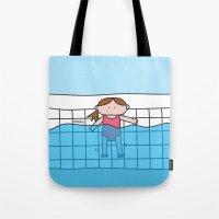 pool Tote Bags featuring Pool by oekie