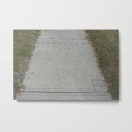 Rosevale Dr NW sidewalk stamp Metal Print