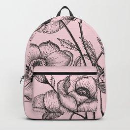 Palid Flowers  Backpack
