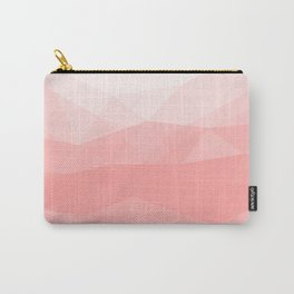 Big Sur Morning Sun - Soft Pink Geometric Abstract Carry-All Pouch