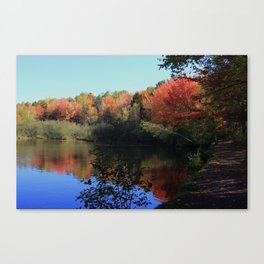 Autumn Trail Lake Relections Canvas Print
