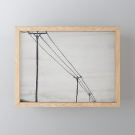 Power Lines Framed Mini Art Print