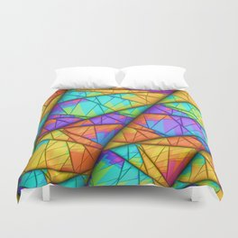 Colorful Slices Duvet Cover
