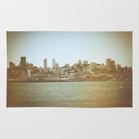 san francisco Area & Throw Rugs featuring San Francisco by Christine Workman