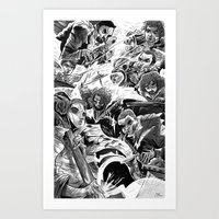 "band Art Prints featuring ""Milkbread"" band poster by Logan  Faerber"