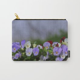 Lavender and White Carry-All Pouch
