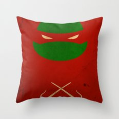 TMNT Raph poster Throw Pillow