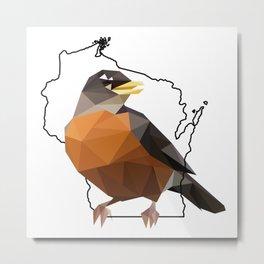 Wisconsin – American Robin Metal Print