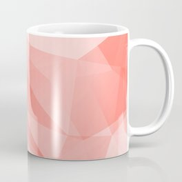 Pantone Living Coral Color of the Year 2019 on Abstract Geometric Shape Pattern Coffee Mug