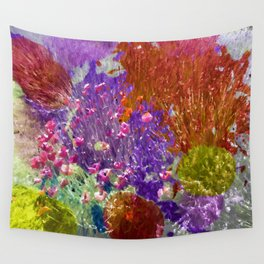 Painted Fields of Flowers Wall Tapestry