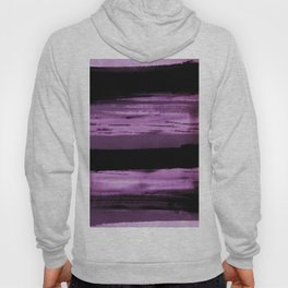 pink and black abstract painting Hoody