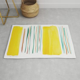 13  |181026 Lines & Color Block | Watercolor Abstract | Modern Watercolor Art Rug