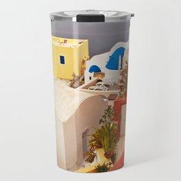 Oia, Santorini, Greece Color Explosion Travel Mug