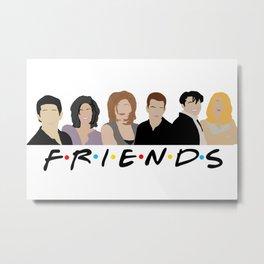 FRIENDS (Minimalist Print with Text) Metal Print