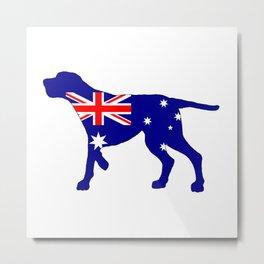 Australian Flag - Redbone Coonhound Metal Print