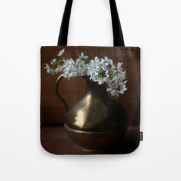 Bird Cherry in the vintage jar Tote Bag
