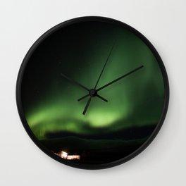aurora borealis - 7 Wall Clock