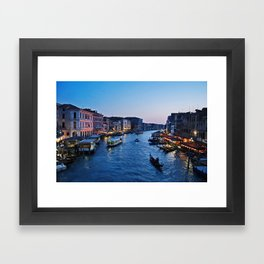 Venice at dusk - Il Gran Canale Framed Art Print