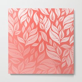 LIVING CORAL LEAVES 2 Metal Print