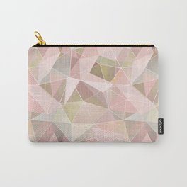 Broken glass in light pink tones. Carry-All Pouch