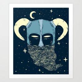Dreaming Druid Art Print