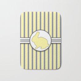 Yellow Rabbit Stripes Pattern Design Bath Mat