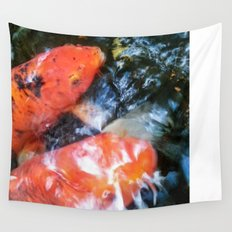 Koi Abstraction 001 Wall Tapestry