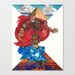 Kimye Illuminati Bugatti Canvas Print