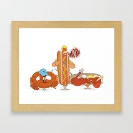 Baseball Food Framed Art Print