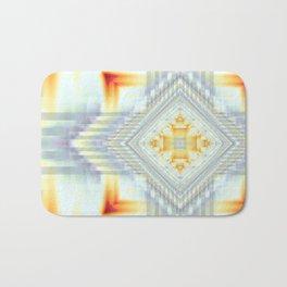 Fractal Art- Religious Cross- Native American- Yellow Art- Illuminative- Orange Art- Bath Mat