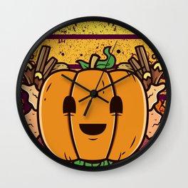 Spooky Pumpkin Scene Halloween | Funny & Great Gift Wall Clock
