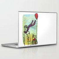 ballon Laptop & iPad Skins featuring Scarf and ballon by GAiquel