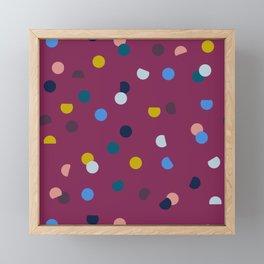 Purple Confetti Spot Framed Mini Art Print