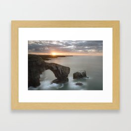 The Green Bridge of Wales Framed Art Print