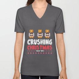 Crushing Christmas - nutcracker Unisex V-Neck