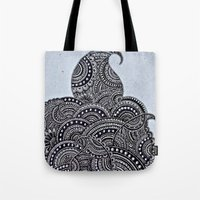 doodle Tote Bags featuring Doodle by Meher R