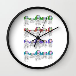 JELLYFISH LINEUP Wall Clock