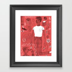 Diving into a trance Framed Art Print